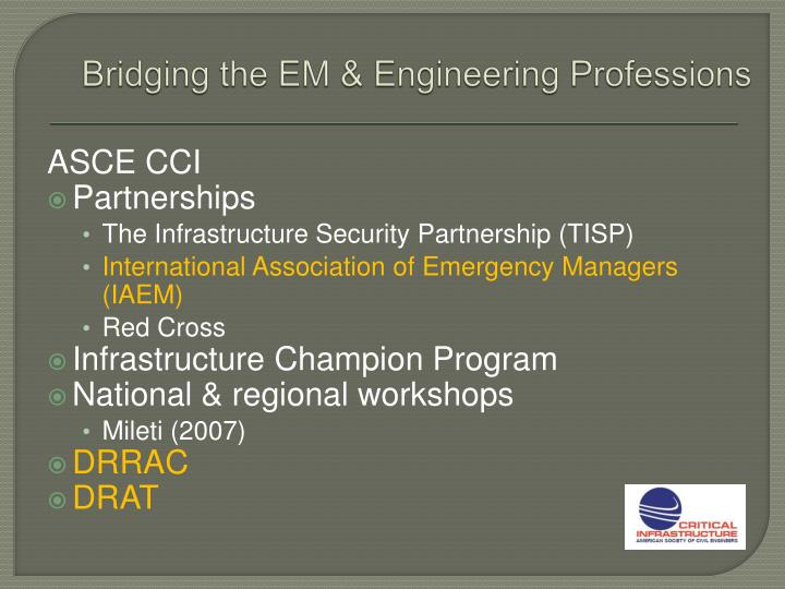 Bridging the EM & Engineering Professions