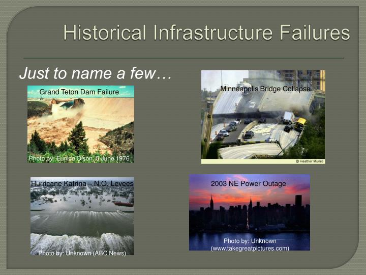 Historical Infrastructure Failures