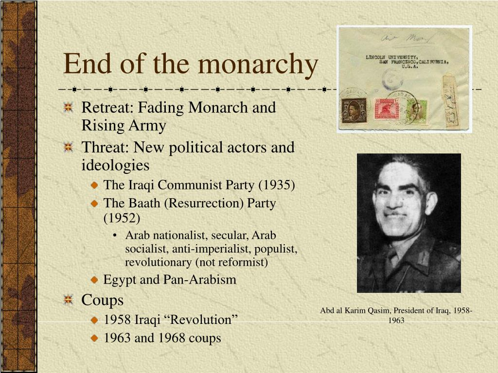 End of the monarchy