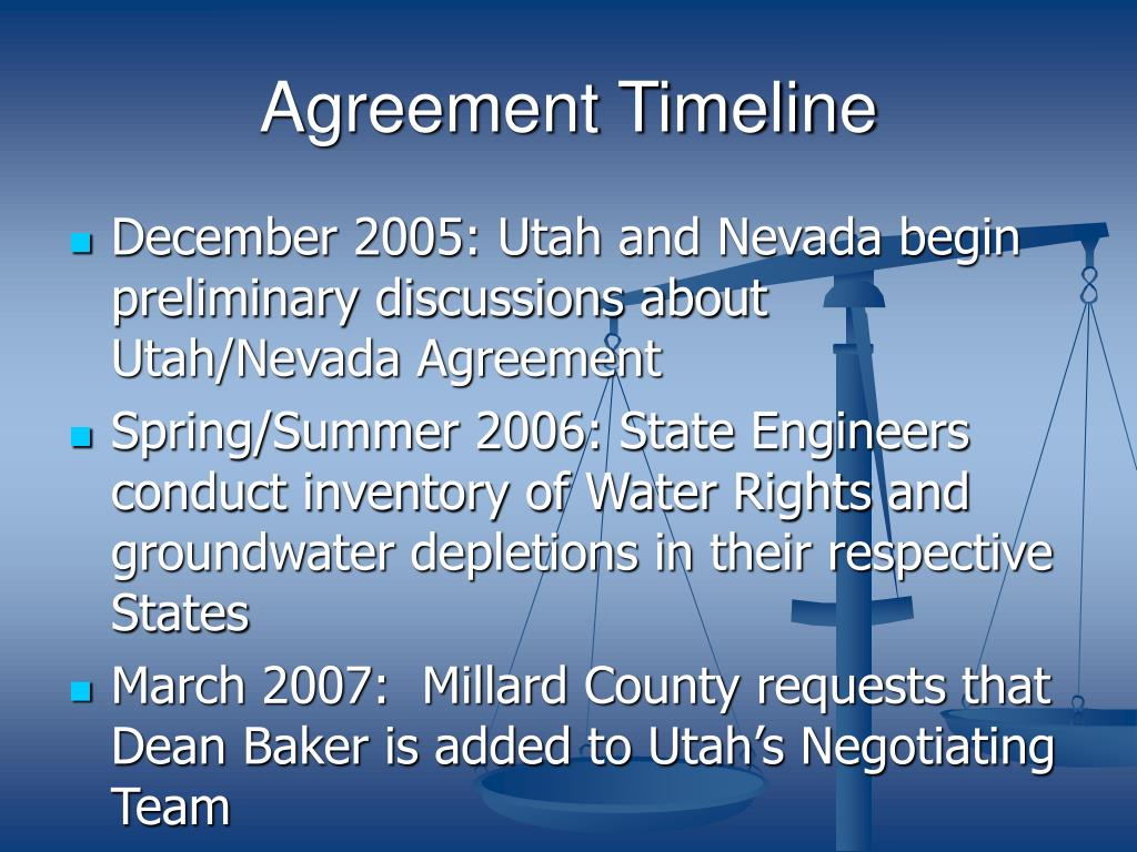 Agreement Timeline