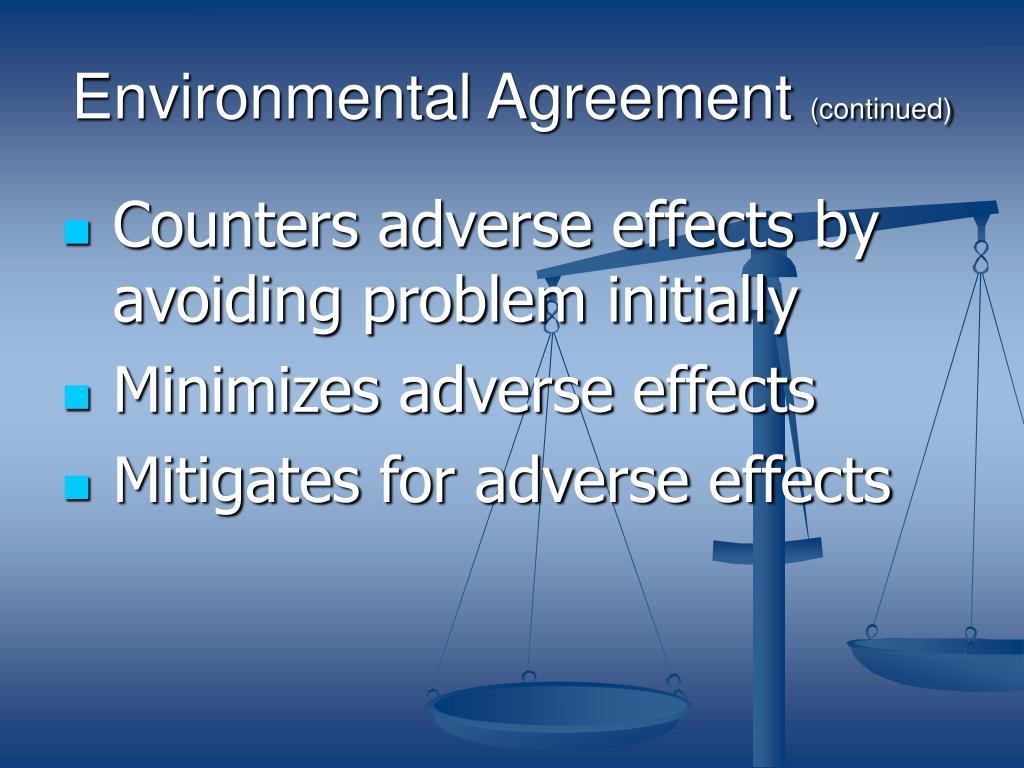 Environmental Agreement