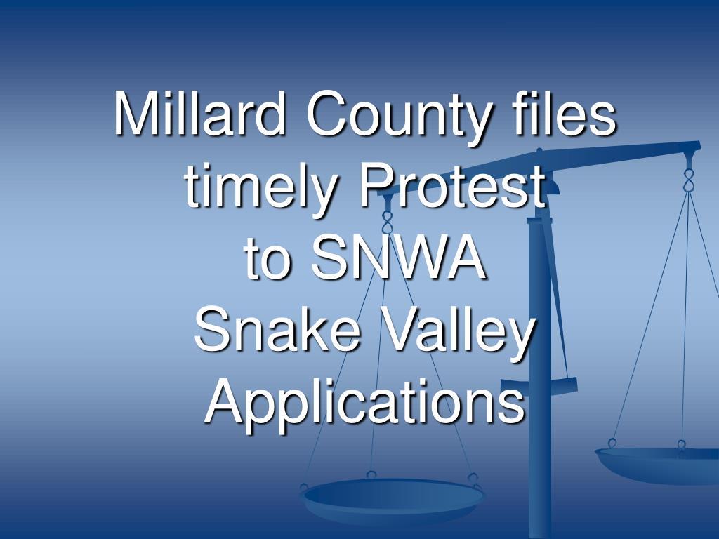 Millard County files