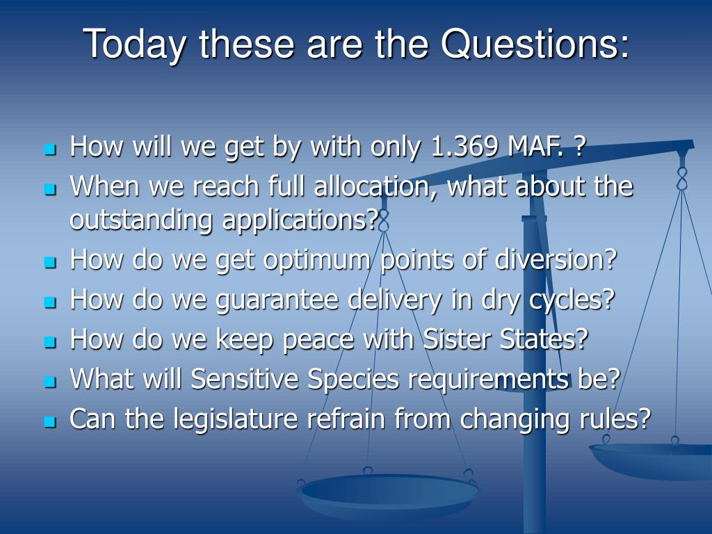 Today these are the Questions: