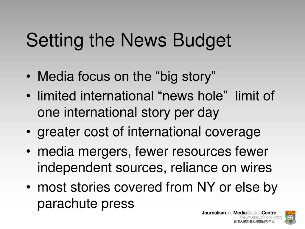 Setting the News Budget