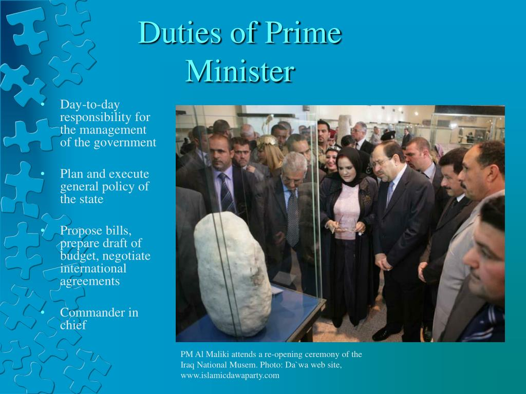 Duties of Prime Minister