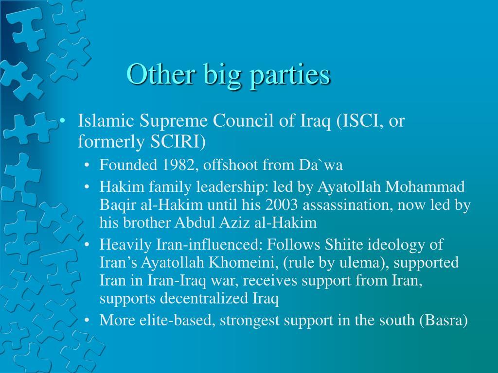 Other big parties