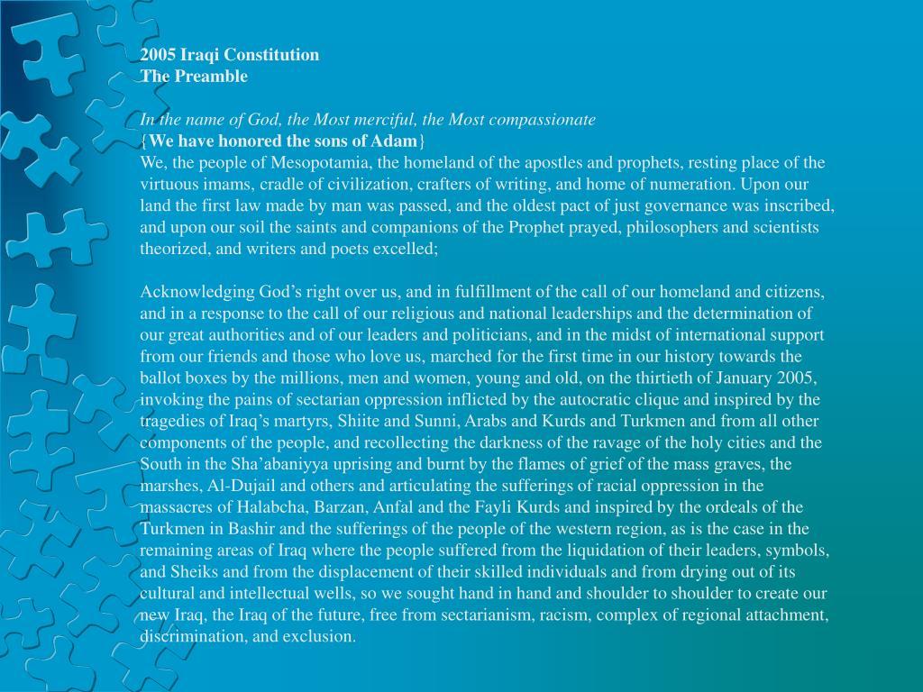 2005 Iraqi Constitution
