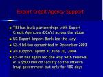 export credit agency support