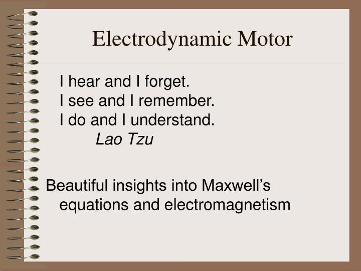 Electrodynamic Motor