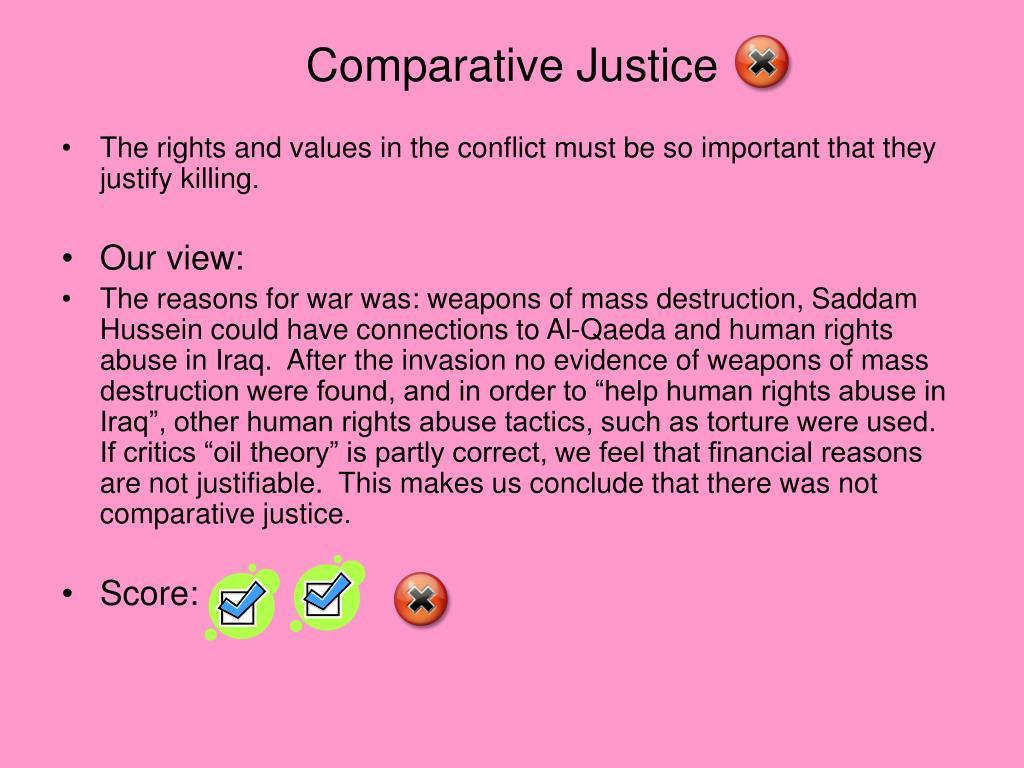 Comparative Justice