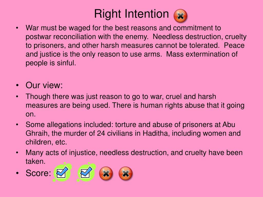 Right Intention