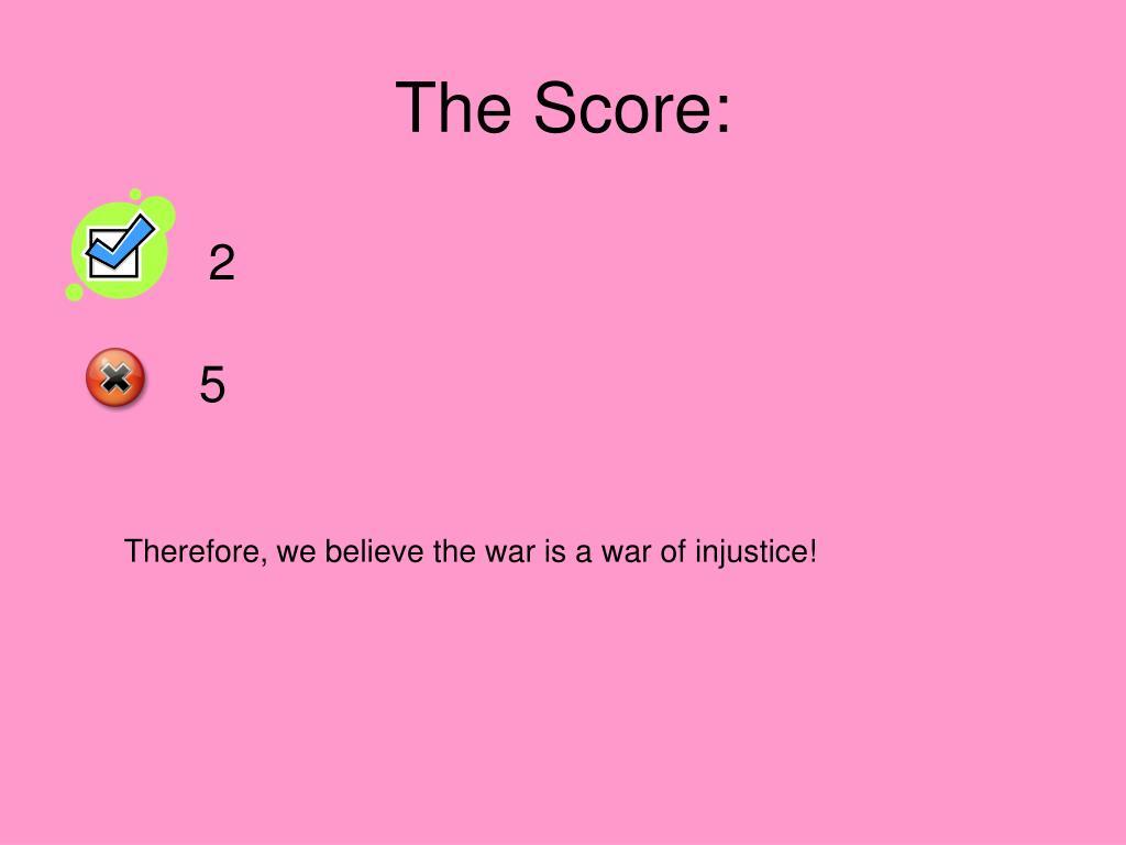 The Score: