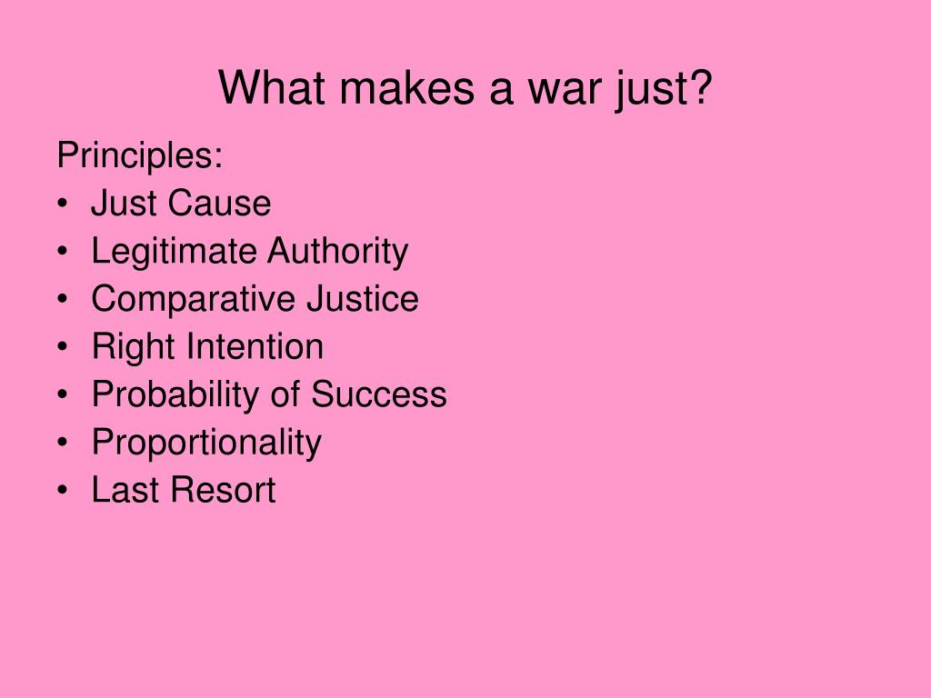 What makes a war just?
