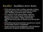kurdsat headlines news items