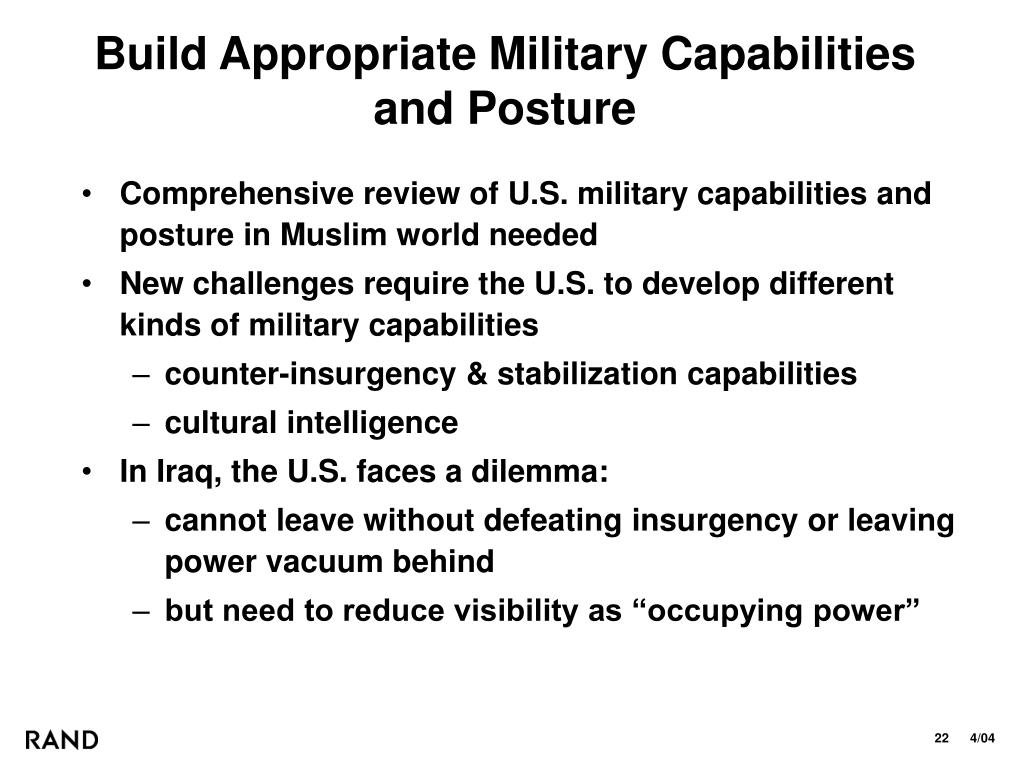 Build Appropriate Military Capabilities and Posture