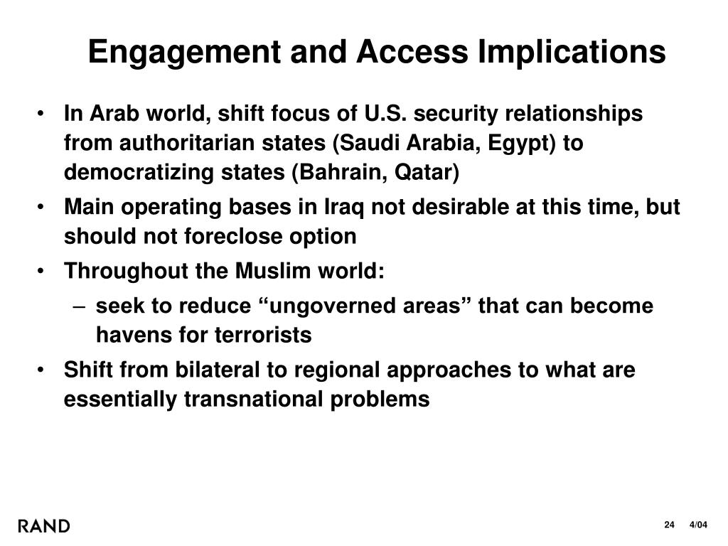 Engagement and Access Implications