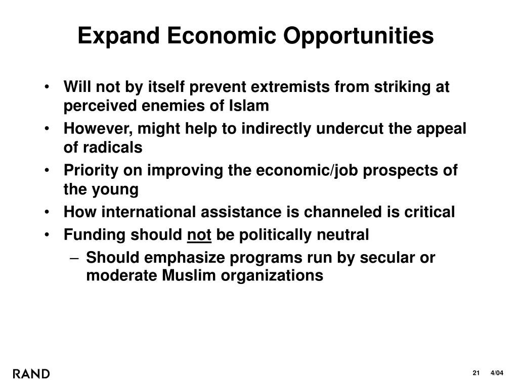 Expand Economic Opportunities