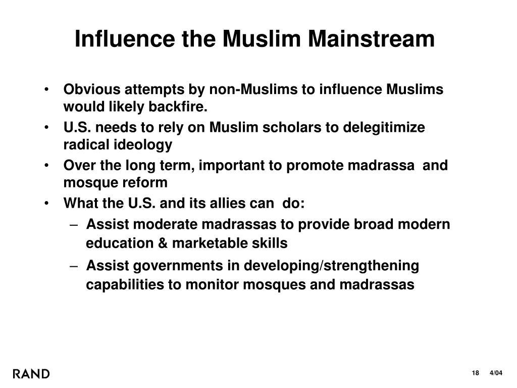 Influence the Muslim Mainstream
