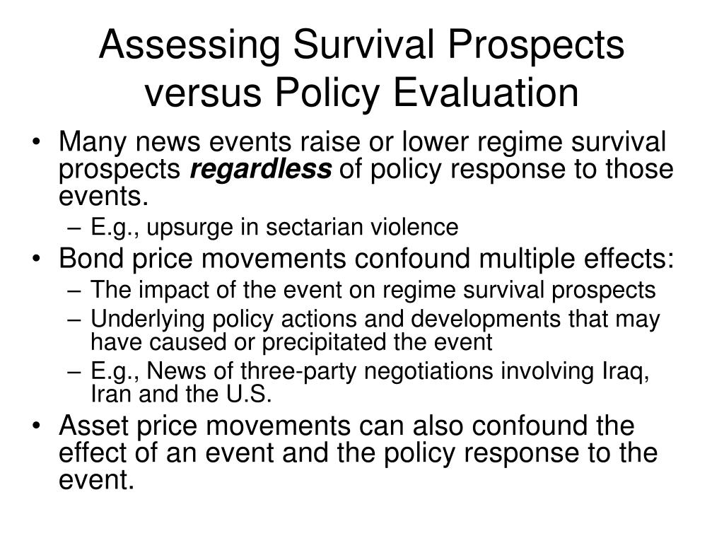 Assessing Survival Prospects