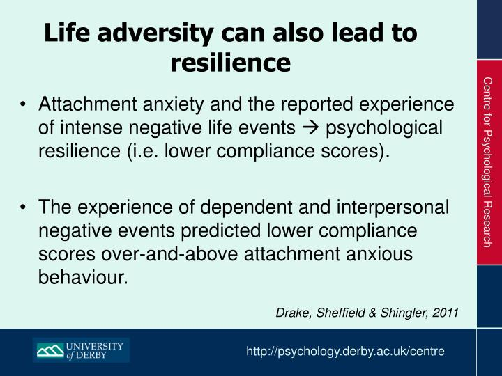 Life adversity can also lead to resilience