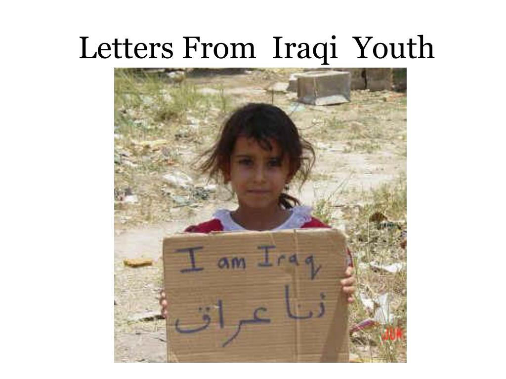 Letters From  Iraqi  Youth
