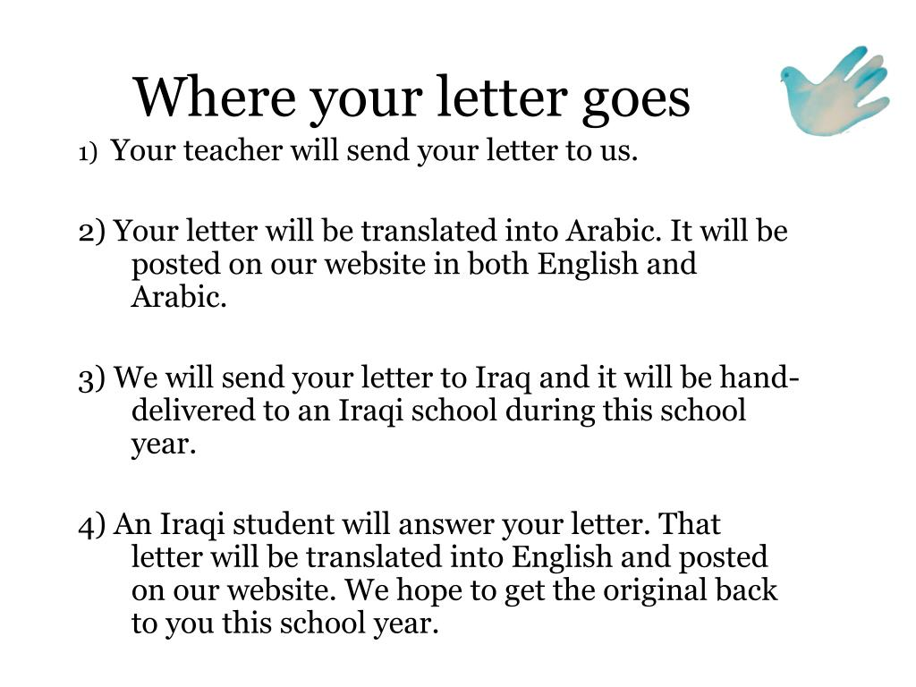 Where your letter goes