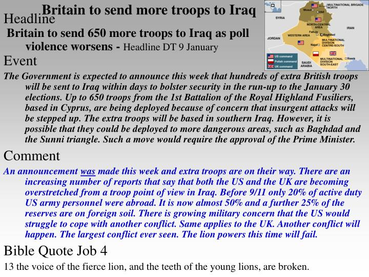 Britain to send more troops to iraq