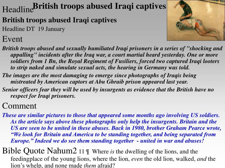 British troops abused iraqi captives