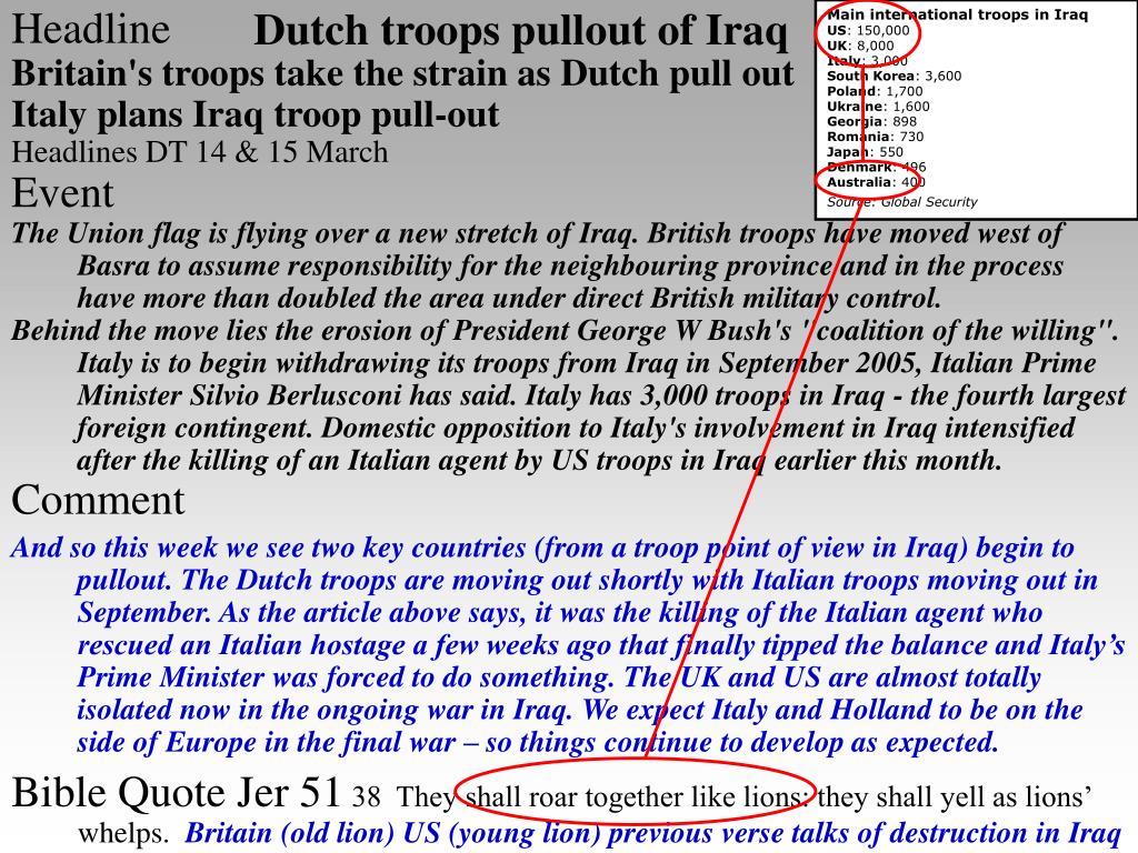 Main international troops in Iraq