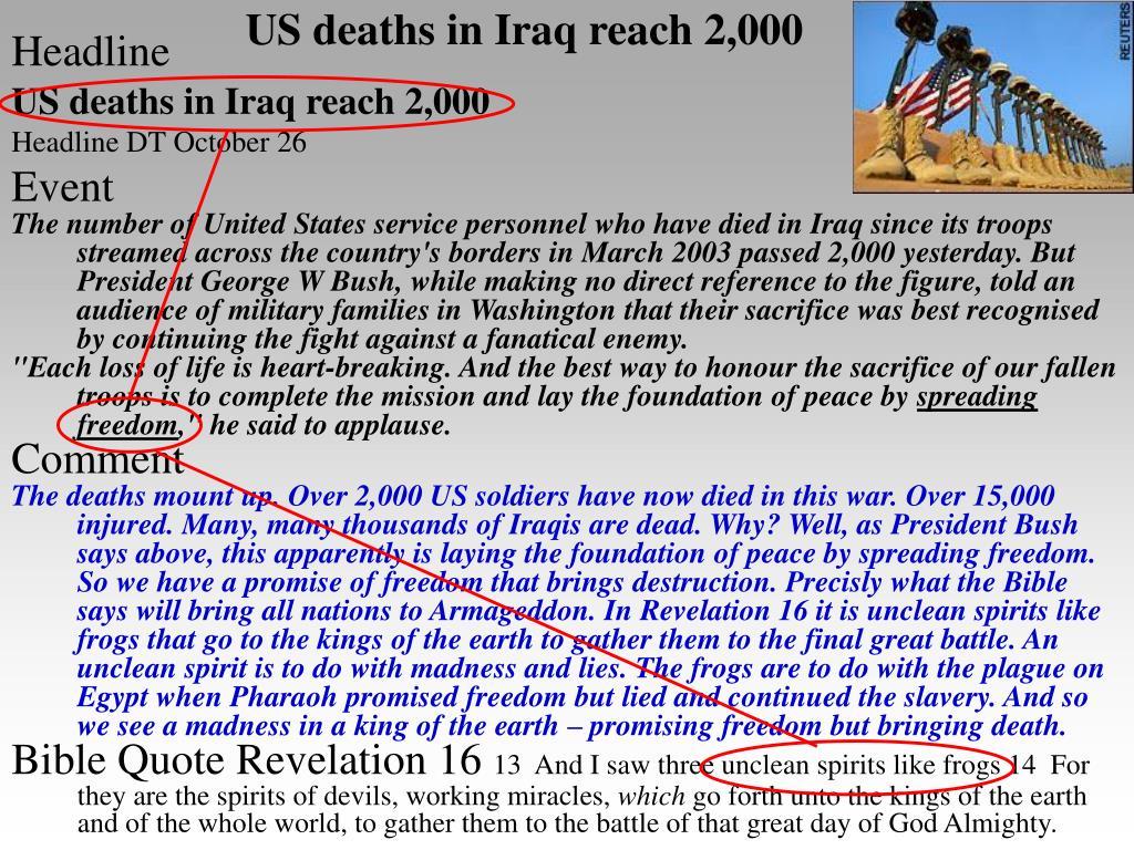 US deaths in Iraq reach 2,000