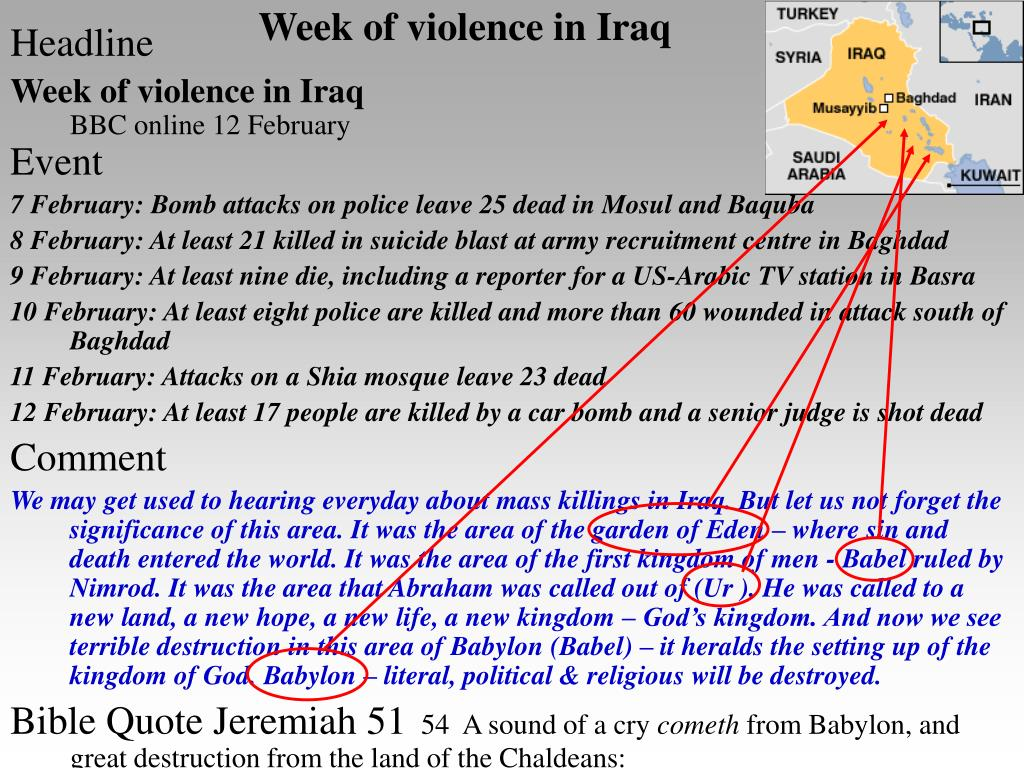 Week of violence in Iraq