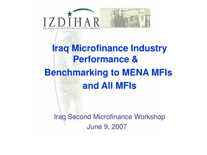 Iraq Microfinance Industry Performance &