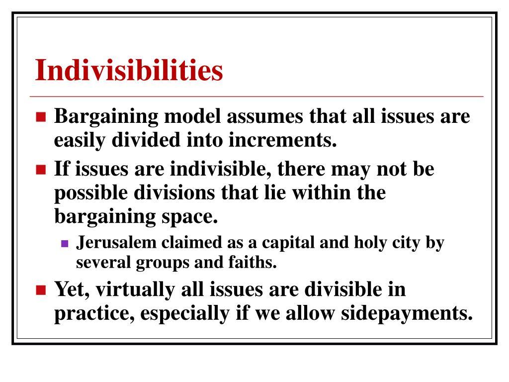 Indivisibilities