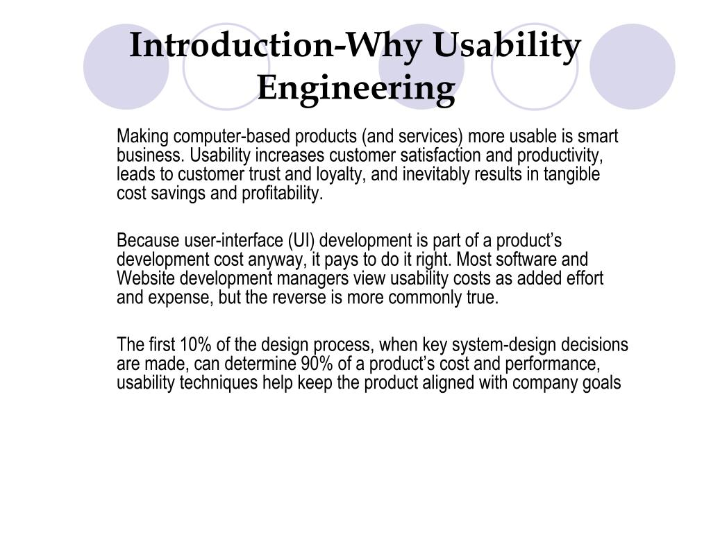 Introduction-Why Usability Engineering