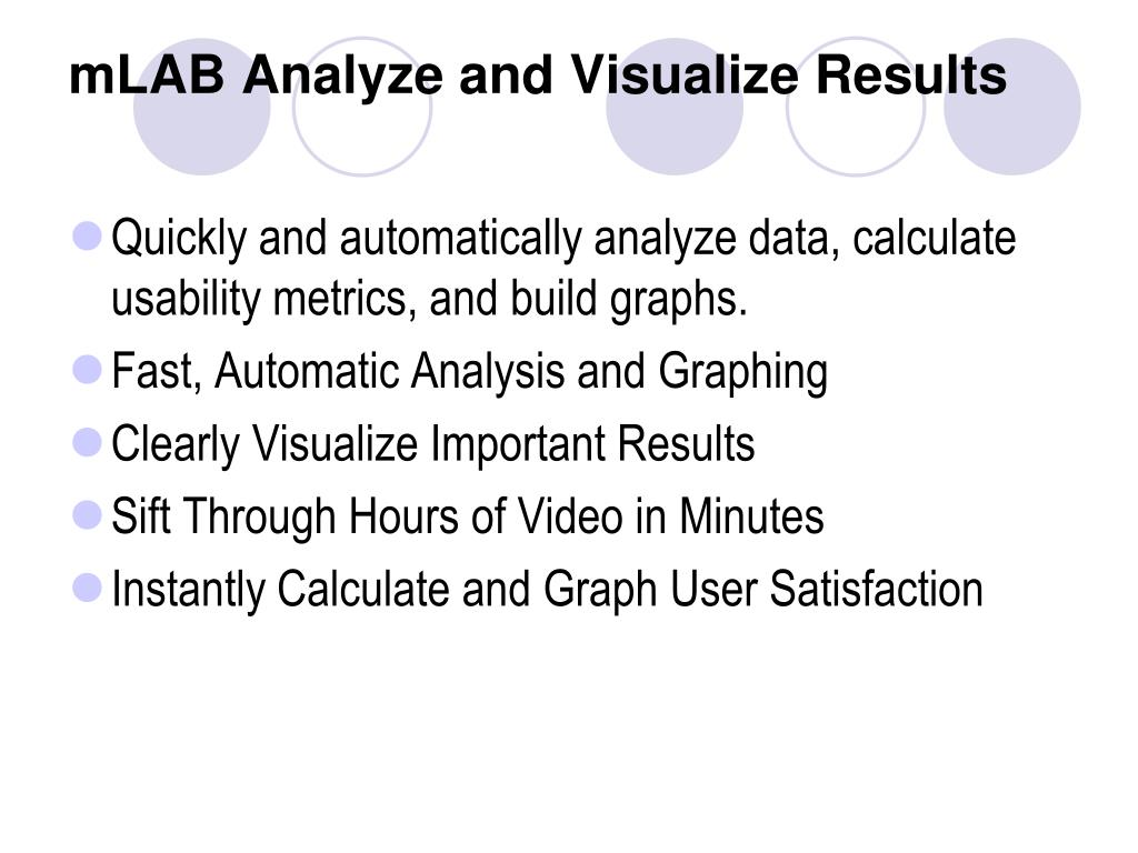 mLAB Analyze and Visualize Results