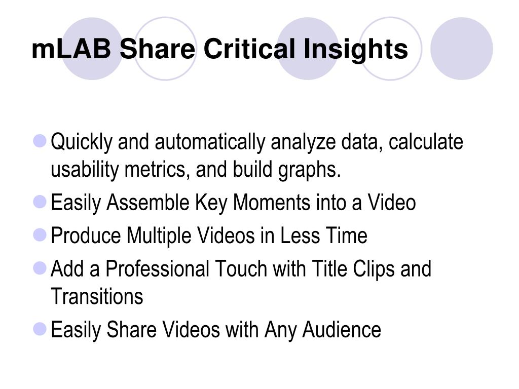 mLAB Share Critical Insights