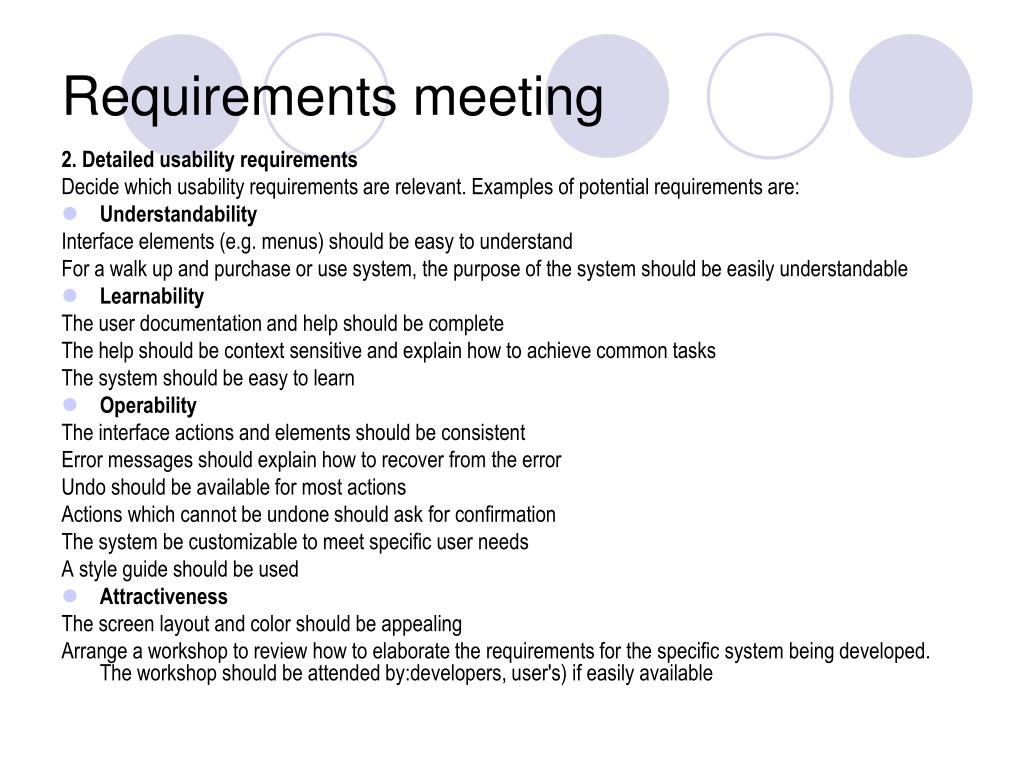 Requirements meeting