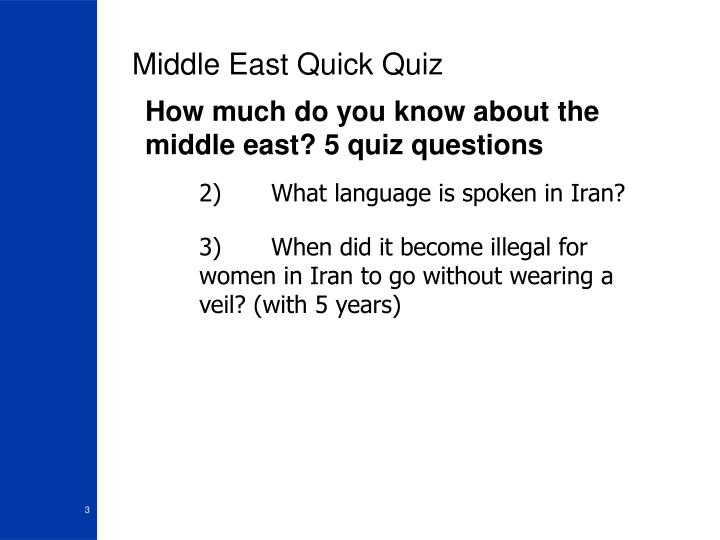 Middle east quick quiz3