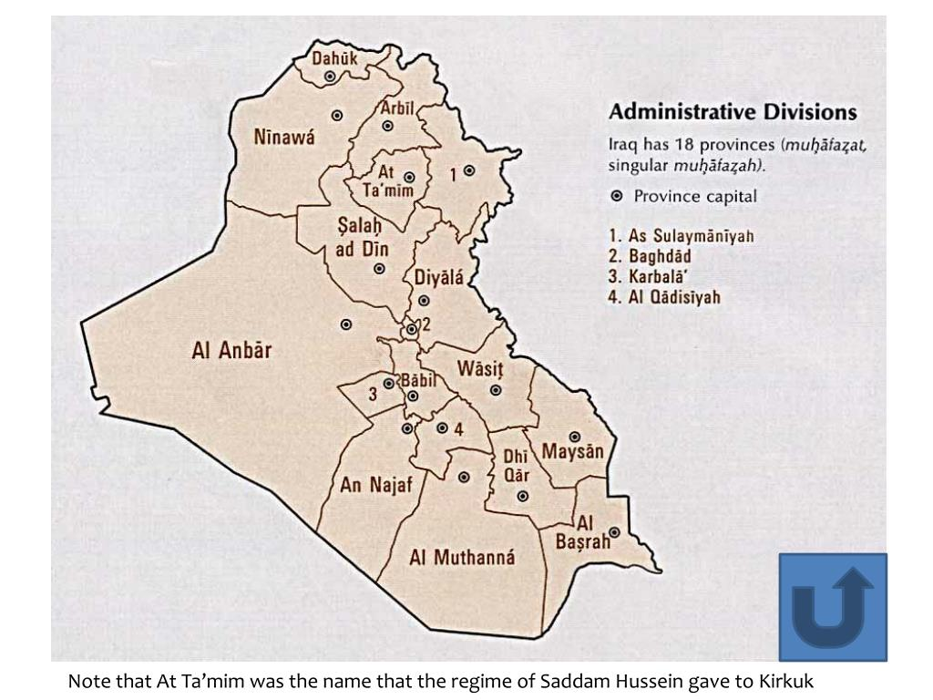 Note that At Ta'mim was the name that the regime of Saddam Hussein gave to Kirkuk
