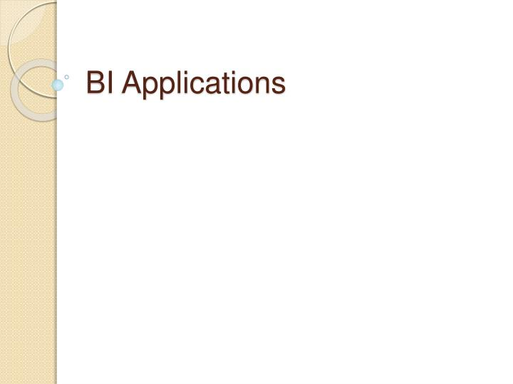 BI Applications