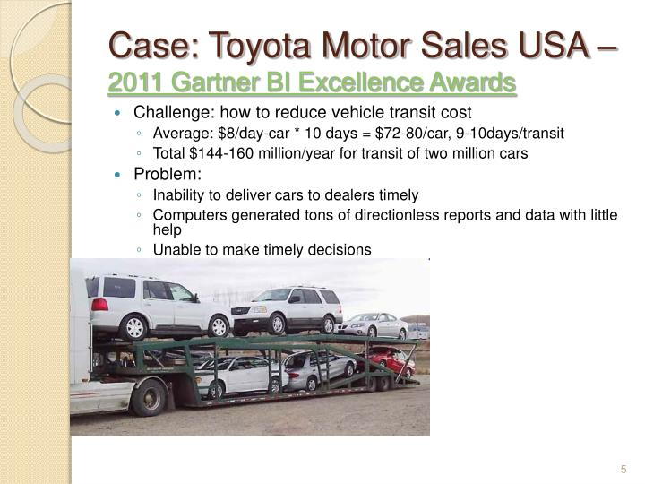 Case: Toyota Motor Sales USA –