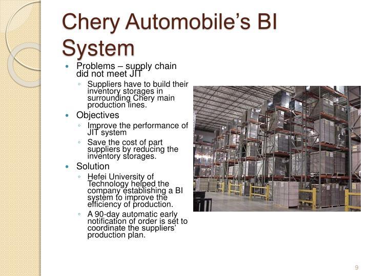 Chery Automobile's BI System