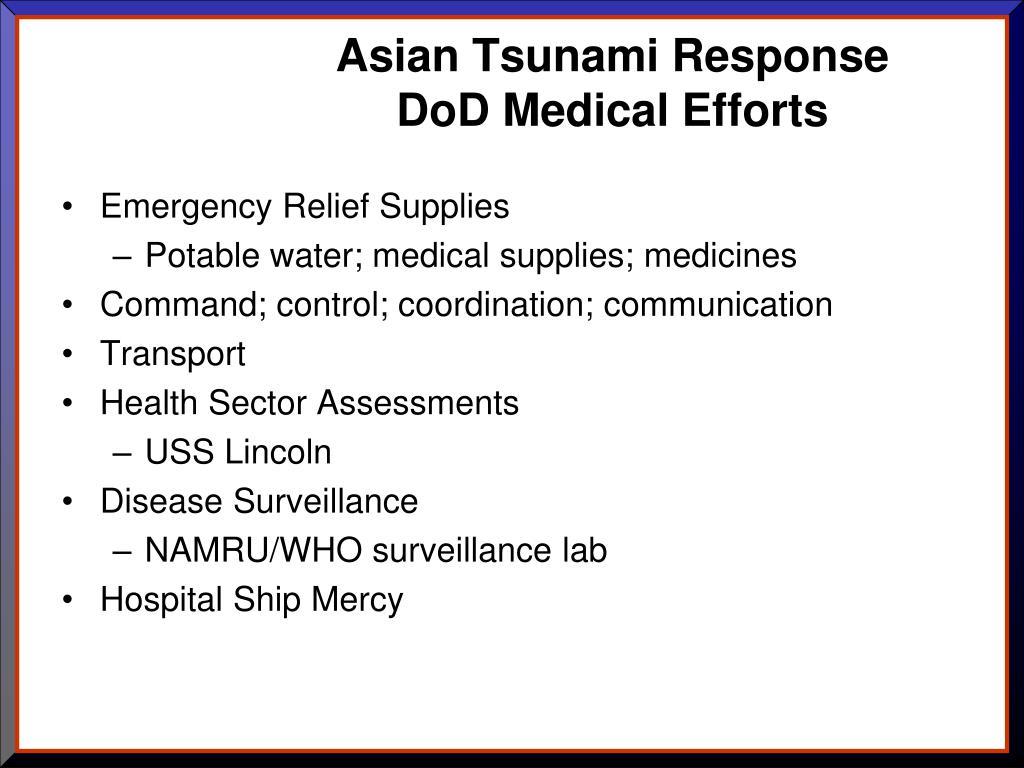 Asian Tsunami Response