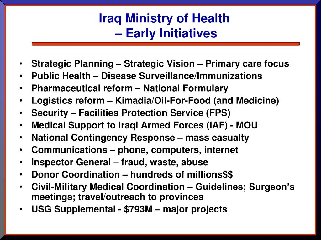 Iraq Ministry of Health