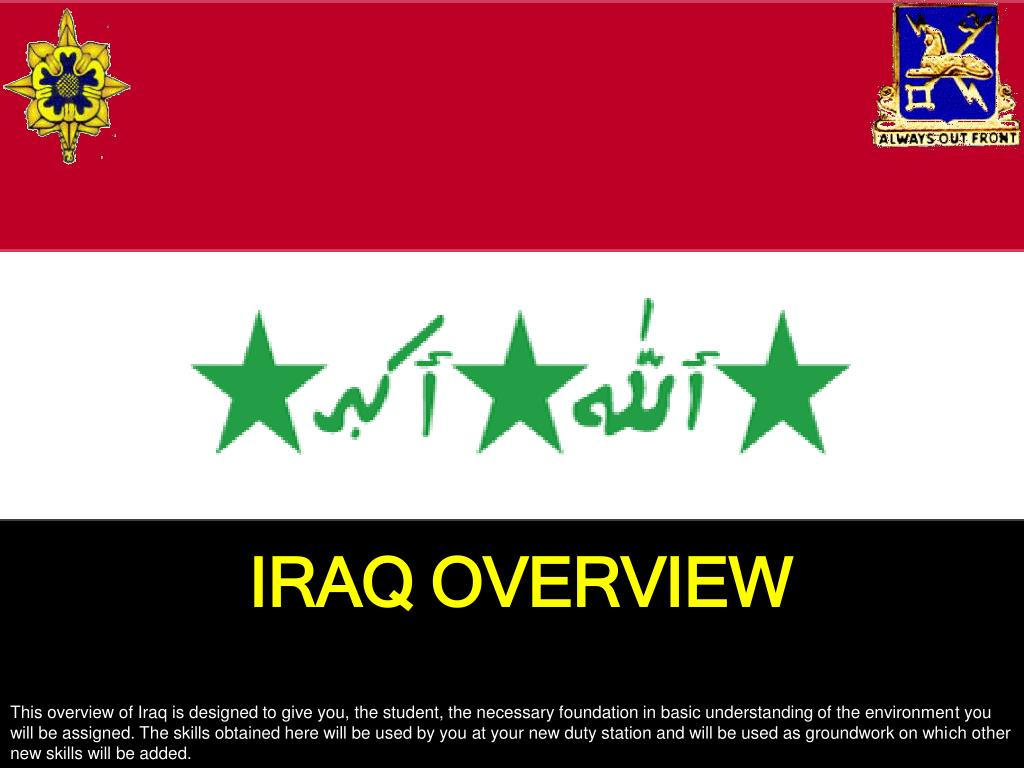 IRAQ OVERVIEW