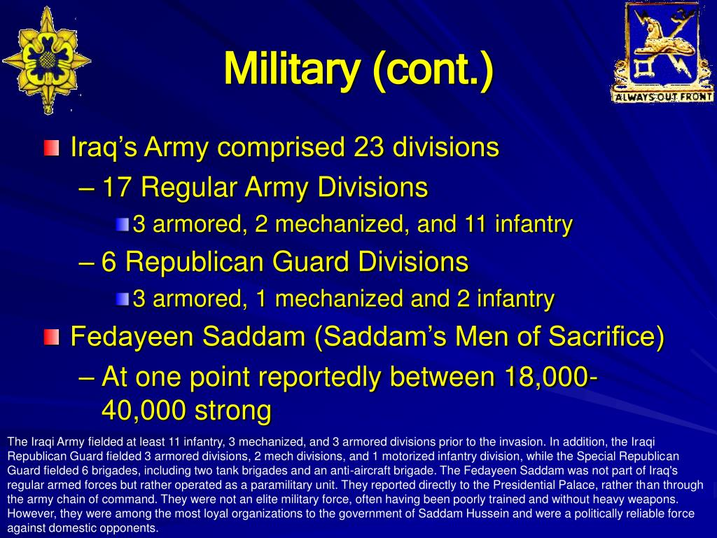 Military (cont.)