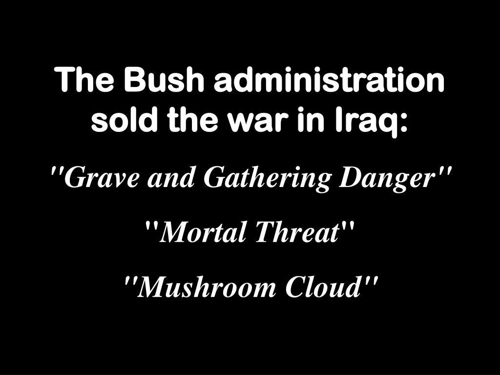 The Bush administration