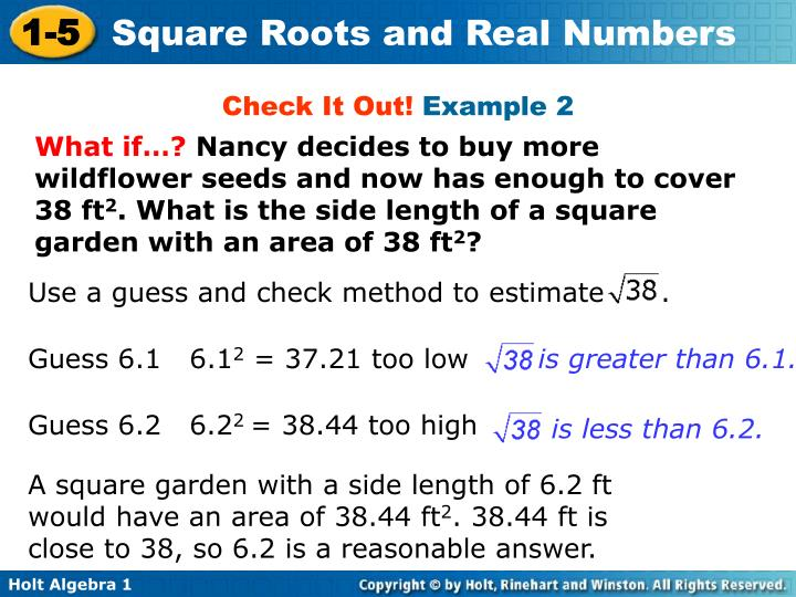 Use a guess and check method to estimate      .