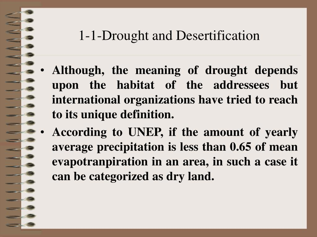 1-1-Drought and Desertification