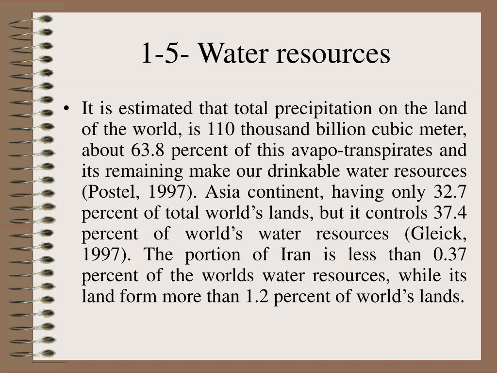 1-5- Water resources